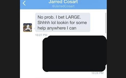 Marlins Pitcher Jarred Cosart May Have Been Outed As A Sports Bettor Last Night On Twitter And Naturally People Are Now Guessing Whether He's Been Throwing Games On Purpose