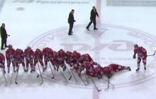 Russian Junior Hockey Team Wins Playoff Series, Break Out Hottest Celly To Date