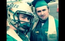 UAB Football Player Walks Across Graduation Stage With Helmet In The Air, Refuses To Shake President's Hand