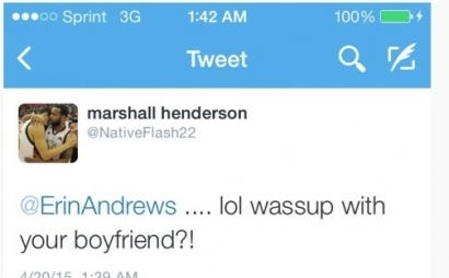 Marshall Henderson Waits 2 Years, Then Unleashes The Best Troll Job On Erin Andrews