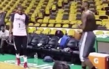 Lebron Hit A Pretty Decent Shot At Today's Shootaround (By Pretty Decent I Mean Amazing)