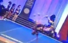 Cheerleader Nailed A Sweet Backflip Other Than The Part Where Her Ankle Turned Into An Accordion