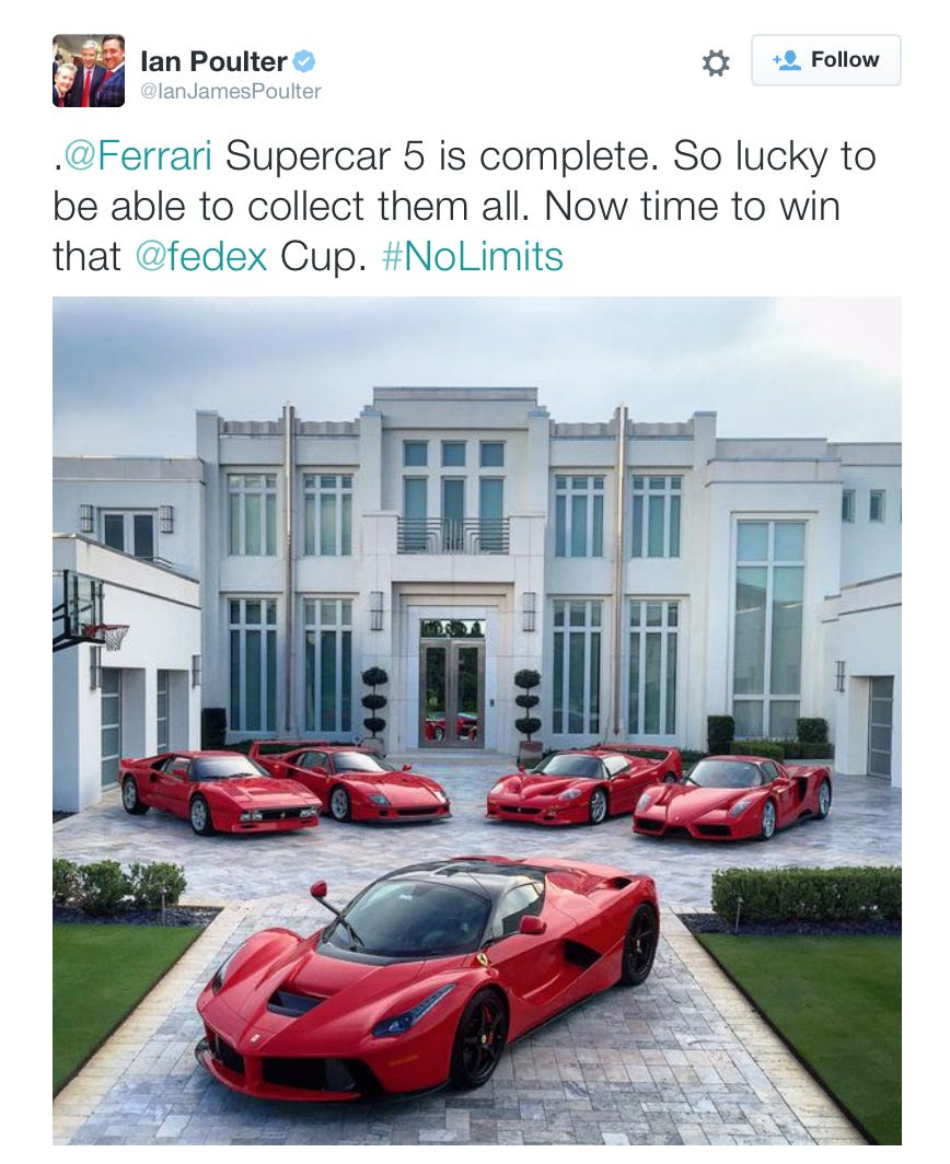 Ian Poulter gging About His Ferrari Collection Is Just Another ...