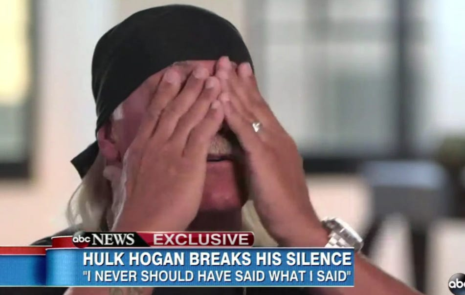 "Hulk Hogan Gave The Most Textbook ""I Am Not A Racist"" Tearful Interview Of All Time"
