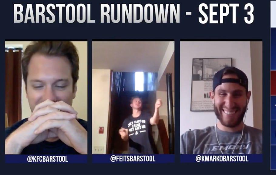 Barstool Rundown – September 3rd
