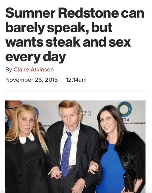 Image result for sumner redstone sex ny post