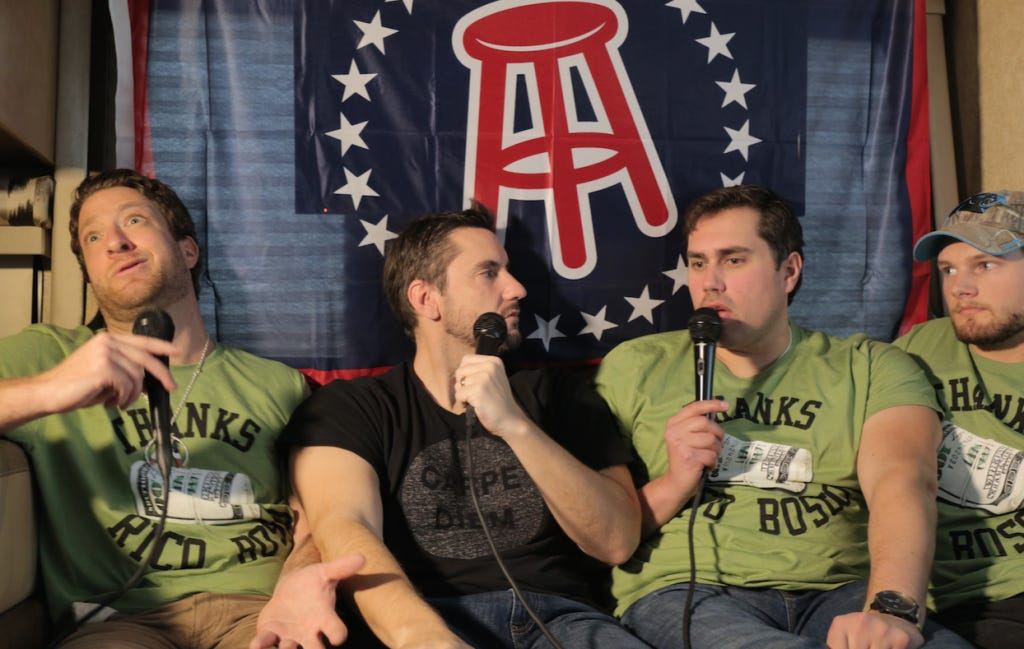 Barstool Super Bowl Casting Couch Featuring Clay Travis