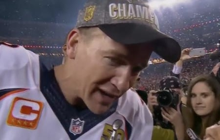 Peyton Manning Won't Stop Mentioning How Much He Loves Budweiser