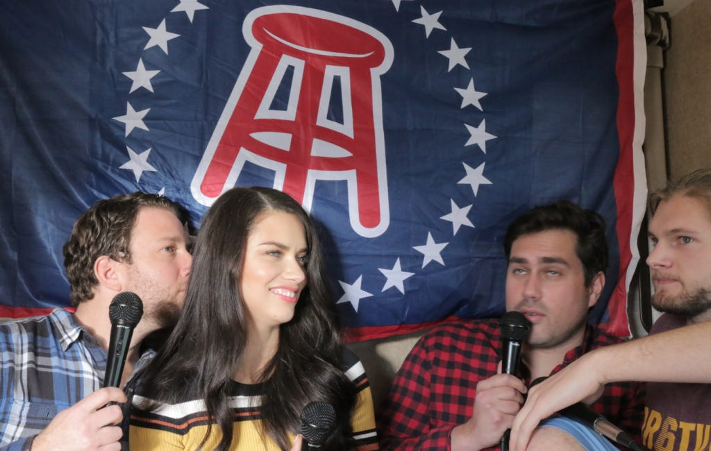 Barstool Casting Couch Featuring Victoria Secret Supermodel Adriana Lima