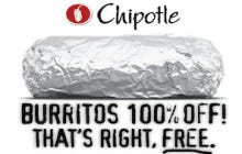 Chipotle Giving Away Free Burritos To Everyone Who Sends Them A Text Means We Are Like Peas And Carrots Again
