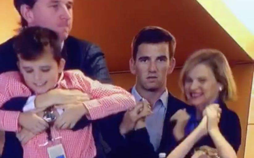 Eli's Excuse For His Face At The Super Bowl - He Was Doing Math