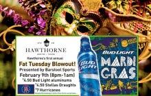 Bears. Bud Light. Beads. Battlest….Hawthorne on U Street For The Fat Tuesday Party