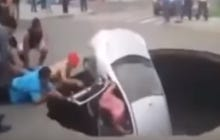 These People Who Got Swallowed By a Sink Hole Could Not Be More Over-Dramatic