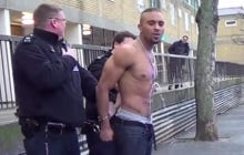 Dude Talking Shit While Handcuffed Should Probably Stop Pissing Himself First