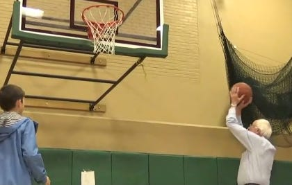 "Bernie ""I Get Buckets"" Sanders Hits The Gym And Gets Up Some Jumpers"