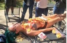 Texas State Chick Just Casually Laying Out Letting People Eat Chick Fil A Off Her