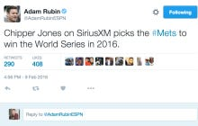 Chipper Jones Says The Mets Are Going To Win The 2016 World Series