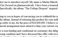 That Boob Martin Shkreli Tried To Buy Kanye's New Album For Just Himself For $10,000,000