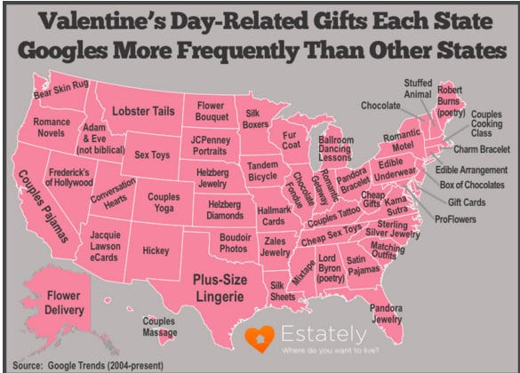 The Best Valentine's Day Gifts By State