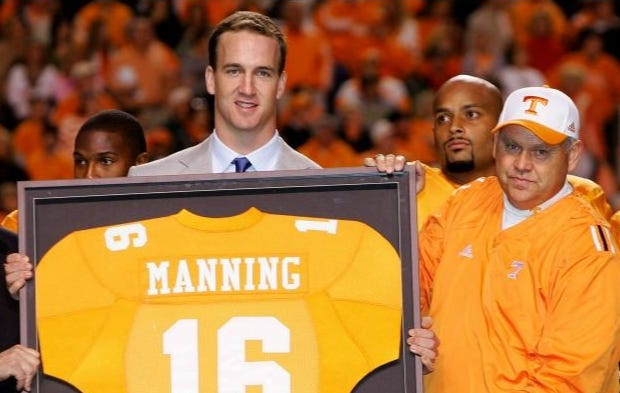 University of Tennessee Being Sued For Letting Peyton Manning Drag His Nuts On A Female Trainers Face And Basically Laughing About It