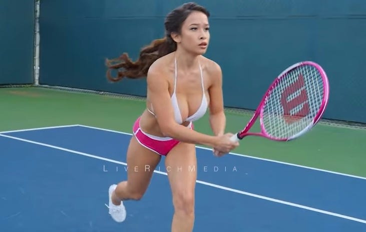 Huge Natural Tit Bounce Bikini