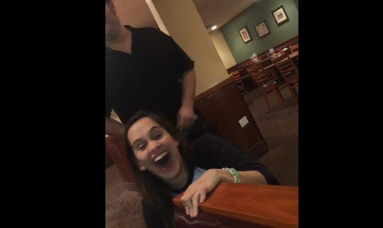 video dennys waiter gets blowjob as tip my