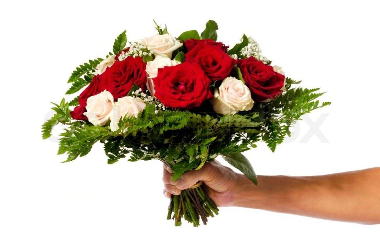 Фото букетов цветов в руке