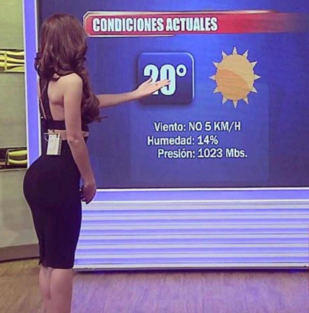 Big Booty Weather Girl