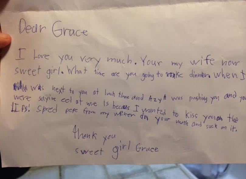 This second grader love letter is the definition of romance this second grader love letter is the definition of romance barstool sports spiritdancerdesigns Image collections