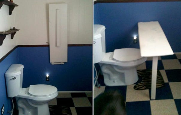This Homemade Toilet Desk Is Simply Evolution At Work Barstool Sports