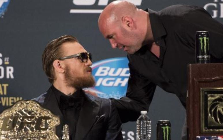 Dana White Says Connor McGregor Is Officially Out Of UFC  : staredown from www.barstoolsports.com size 773 x 486 jpeg 49kB