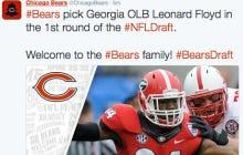 Bears Trade Up To Take OLB Leonard Floyd From Georgia