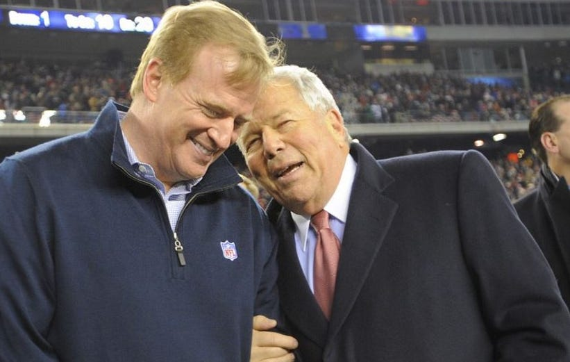 Roger Goodell Says He Spoke With The Krafts And Everybody Is Ready To Move Forward
