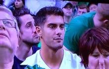 Jimmy Garoppolo Looking Simply Breathtaking At The Celtics Vs Hawks