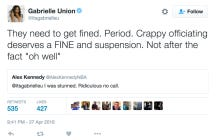 Gabrielle Union Goes On Ride Or Die Twitter Rant About How D Wade Was Fouled During Final Possession