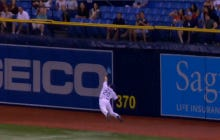 Wake Up With Steven Souza Jr. Going Full Superman On This Catch