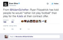 Fitzpatrick Says He'd Rather Not Play Football Than Accept The Jets Latest Offer