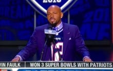 Kevin Faulk Announces The Patriots 3rd Round Pick Like An Absolute Legend
