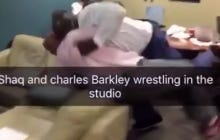 Watching Charles Barkley and Shaq Wrestle Is Like Watching A Cute Dog Video