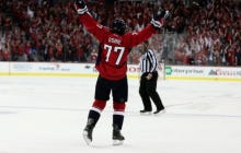 With A TJ Oshie Hat Trick, The Caps Beat The Penguins 4-3 In OT To Take Game 1