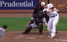 Chris Sale Struck Out Mark Trumbo On A Slider That Hit Him In The Kneecap