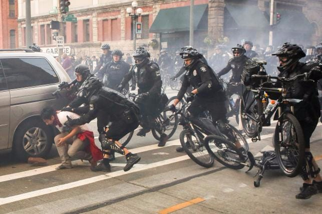Seattle: Loser Protesters Injure 5 Police Officers With Molotov Cocktails, Bricks & Biting