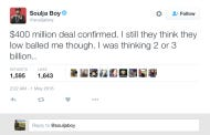 Soulja Boy (Yep, That Soulja Boy) Claims To Have Closed A Deal That Made Him 400 Million Dollars…….But Nobody Knows What The Deal Is For
