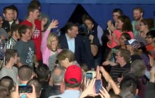 Carly Fiorina Disappears Right Off The Stage At A Ted Cruz Rally