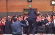 Huuuuuge Brawl Breaks Out At The Turkish Parliament Once Again