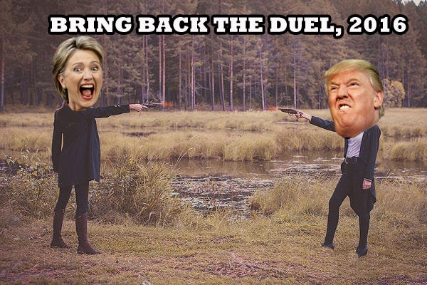 If America wants to be taken seriously we need to bring back the duel