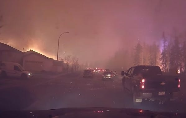 Dashcam Footage Of People Evacuating Fort McMurray Looks Freaking Apocalyptic
