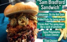 The Sam Bradford Sandwich You Get For Free If You Burn One Of His Jerseys Looks Goddamn Delicious