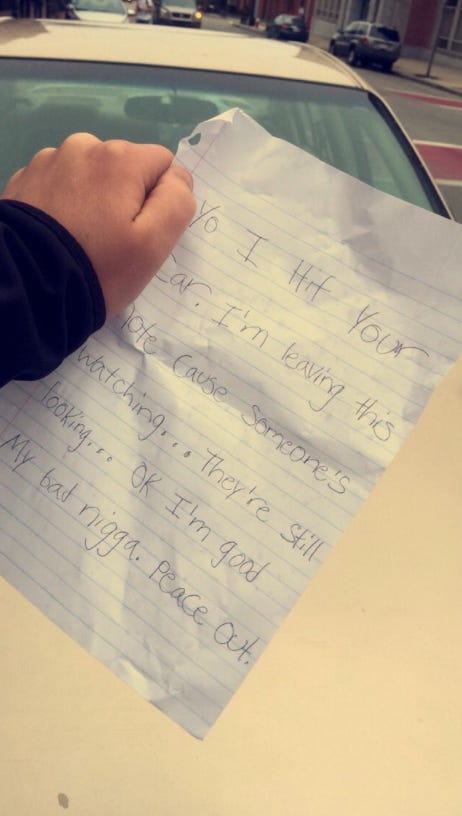 Dude Leaves A Super Funny Note On A Guy S Car After He