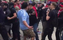 This Soccer Fan Looking To Fight And Then Fading Away At Yankee Stadium Is A Bad Look For Soccer Fans And Yankee Stadium